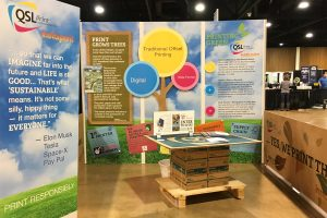 QSL Print Communications - 100% Sustainable Trade Show Booth