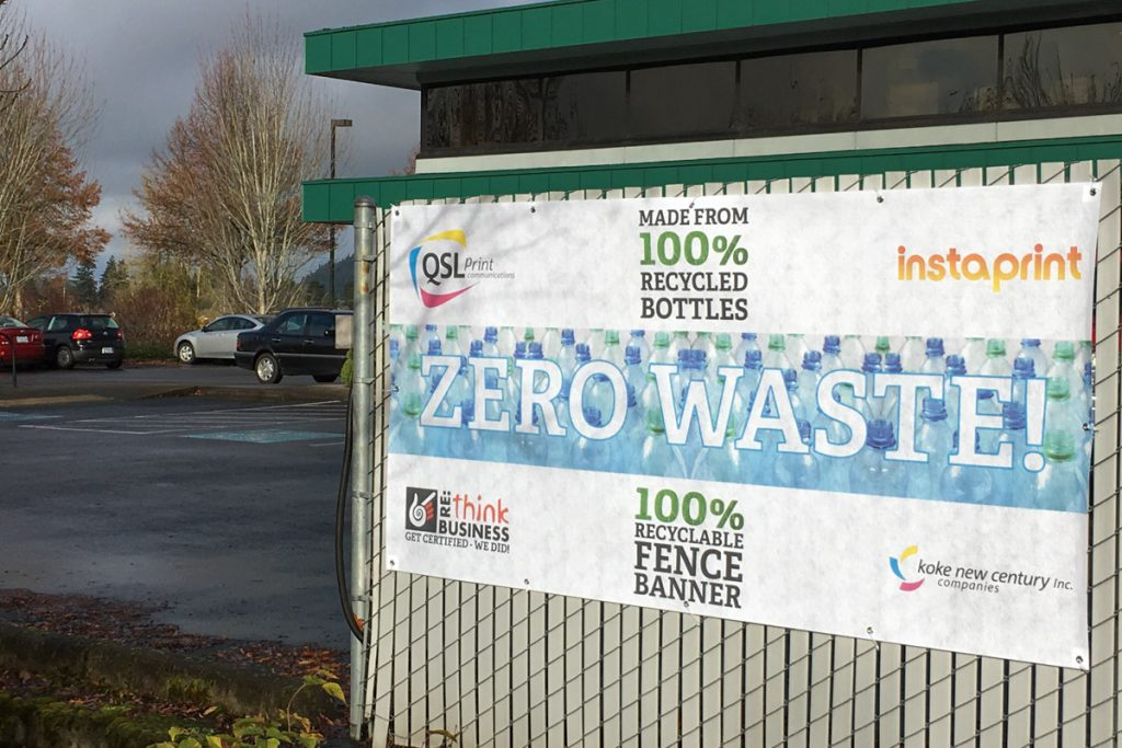 RECYCLABLE FENCE BANNER