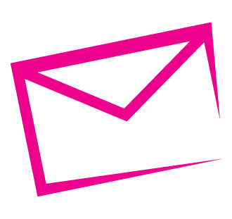 Pink envelope icon