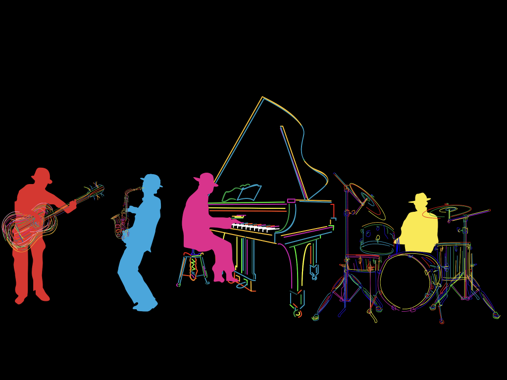 Graphic-CMYK Jazz Band - Community Arts